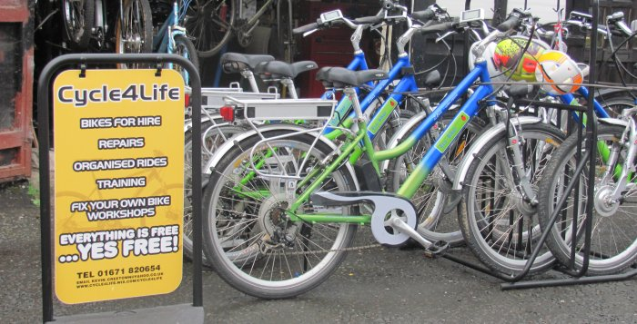 Cycle 4 Life bike hire in Creetown